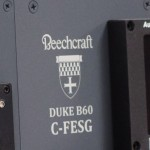 Custom laser engraved Beechcraft Duke logo.