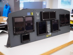 Equipment mounted on final panel.